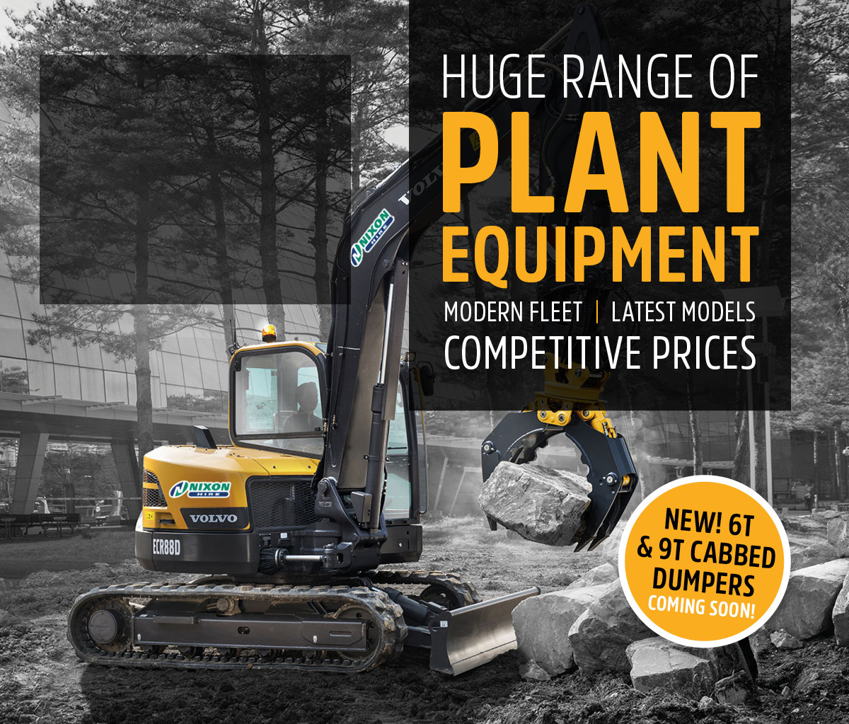 Huge Range Of Modern Plant Equipment Available To Hire At Competitive Prices